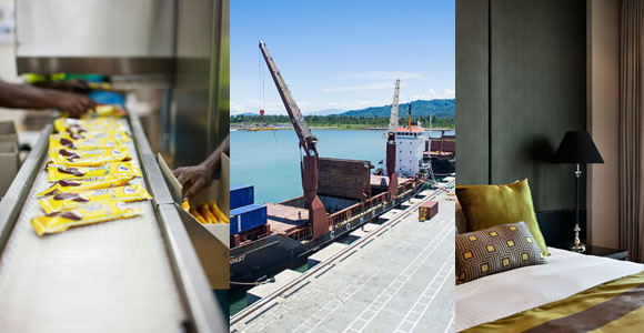 Diversification PNG style: Steamships has interests across manufacturing, logistics and hospitality.