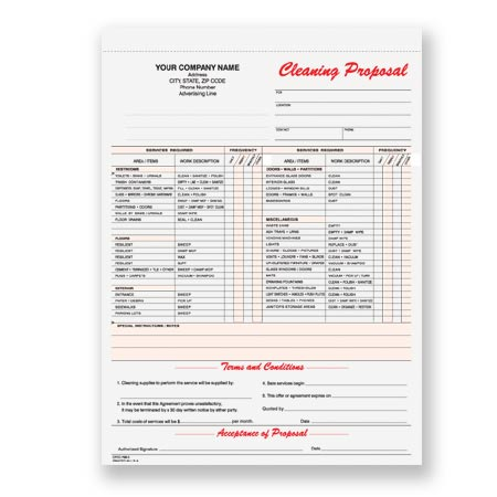 CPCC-796, Janitorial Cleaning Proposal - bid proposal forms