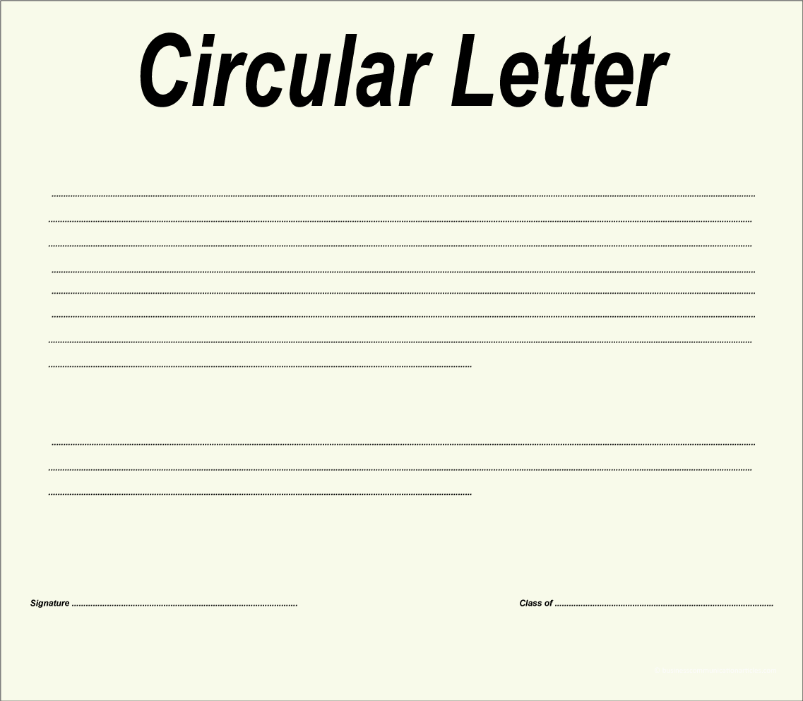 Objective of Circular Letter and Factors for Drafting Circular Letter
