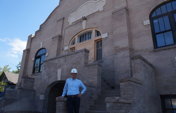 Dave McMurtry in front of the upcoming Goddard School at .. (Amy DiPierro)
