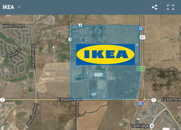 IKEA bought 123 acres in Broomfield.