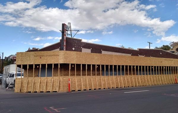 Construction is underway at the former Penn Garage, to create 29 condos on Ogden Street. (Burl Rolett)
