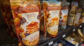 Denver pancake mix elbows for more shelf space