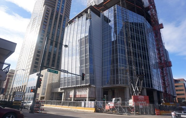 Optiv Security was first to sign a lease for office space in the under-construction, 40-story building at 15th and Arapahoe streets. (Burl Rolett)