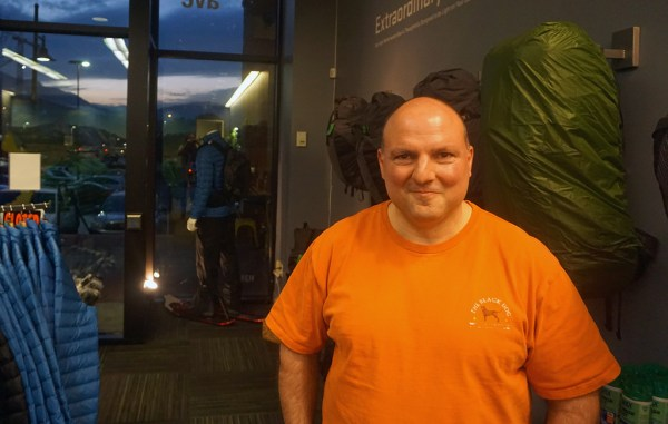 Demetri Coupounas, founder of My Trail, opened its first brick-and-mortar store Nov. 18 in Boulder. (Kate Tracy)