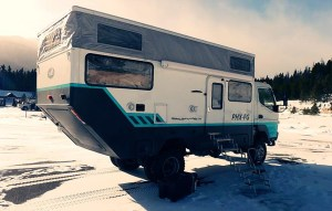 The camper is equipped with a queen-size bed and a full-size bed, shower, toilet and solar panels. (Courtesy Donald and Sarah Butcher)