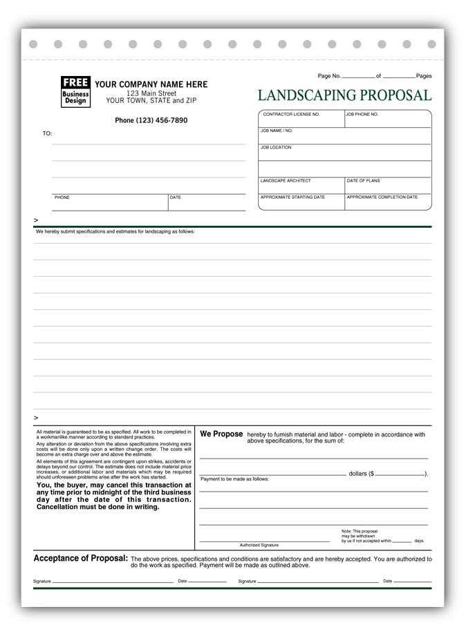 job estimate proposal template