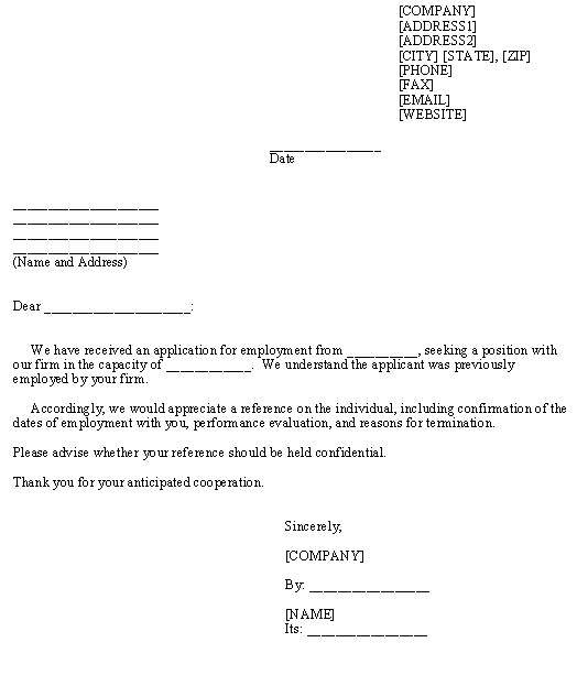 Request for Employment Reference Sample Letter \u2013Download Template