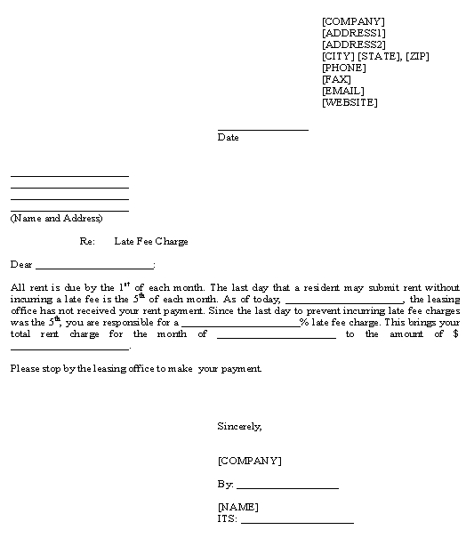 template for late payment notice - Eczasolinf - Letter To Rental Office