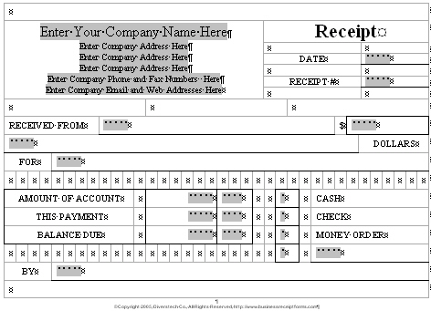 small business receipt template - sample invoices for small business