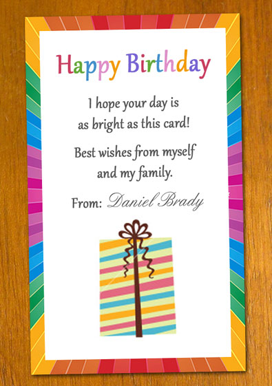 Free Sample Birthday Card Template - Birthday Card Sample