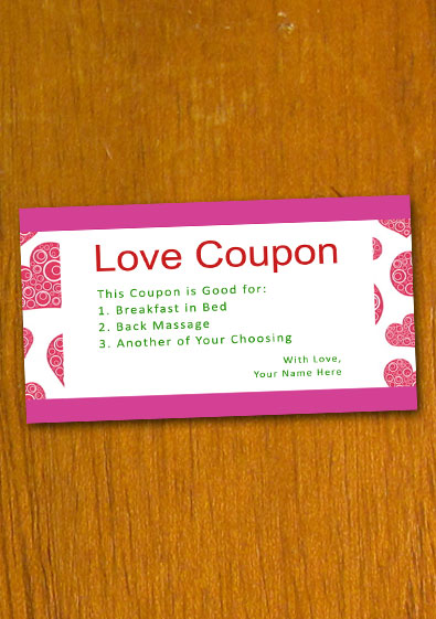 Free Sample Love Coupon Template
