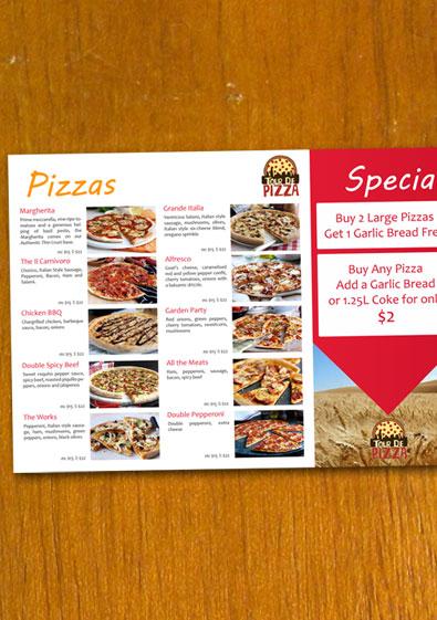 Free Sample Pizza Menu Template - sample menu template