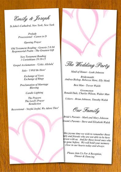 Free Sample Wedding Program Template