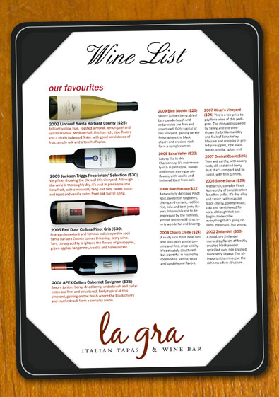 free wine list menu template - product list samples