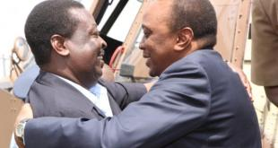 President Uhuru (right) had agreed to step down for Musalia Mudavadi as Jubilee Coalition presidential candidate.