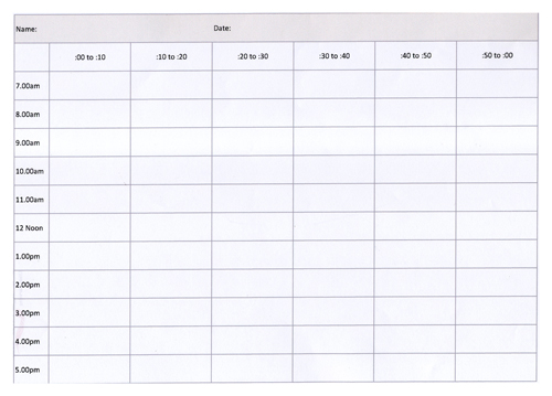 What is a Time Diary? - work hour sheet