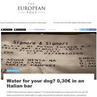 L'acqua per il cane