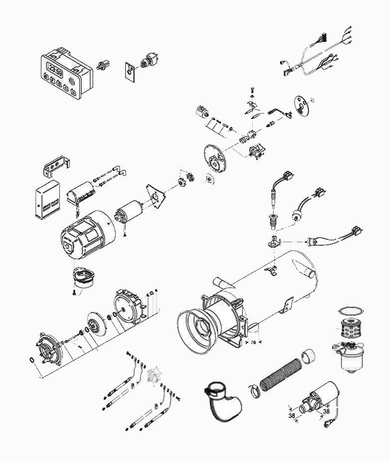 Webasto Heater Parts Manual - Facias on