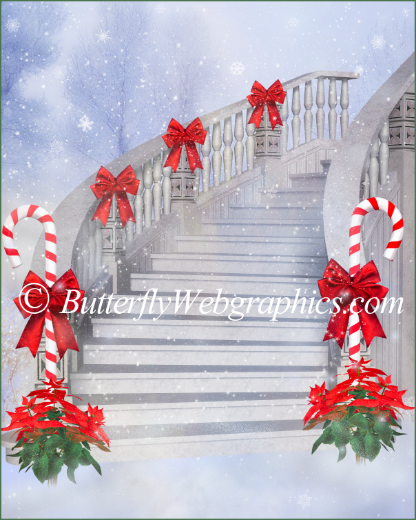 Merry Christmas Background Graphics ButterflyWebGraphics