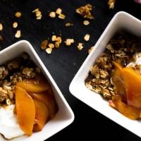 quick peach compote