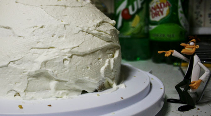 Three sponge cakes and a tower of whipping cream and so very many dishes to wash