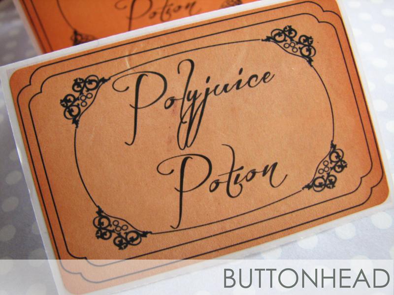 Polyjuice Potion Labels \u2013 Harry Potter Bachelorette! \u2022 Buttonhead