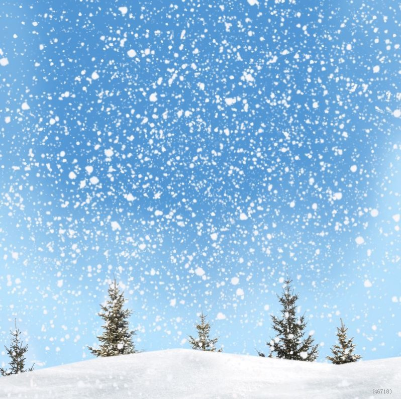 Scenic Snow Background Attractive Christmas Theme Backdrops Fashion - christmas theme background