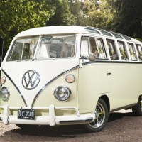 1964 VW Camper 21 Window Walk Through on White