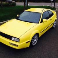 Yellow VW Corrado G60 1990