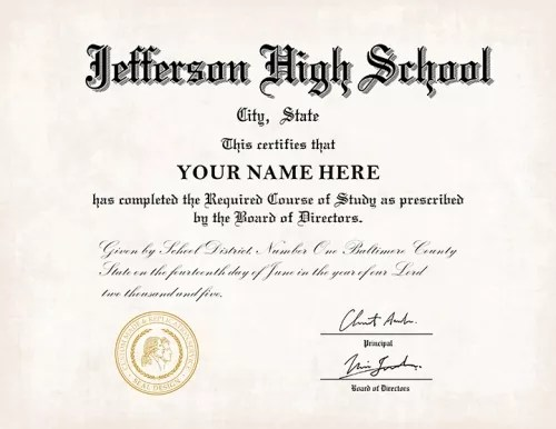 US High School Diploma Style 10 Buy Diploma Online