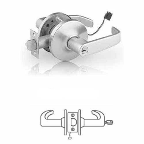 10G71 Sargent electromechanical lever lock, 12/24v fail secure lever