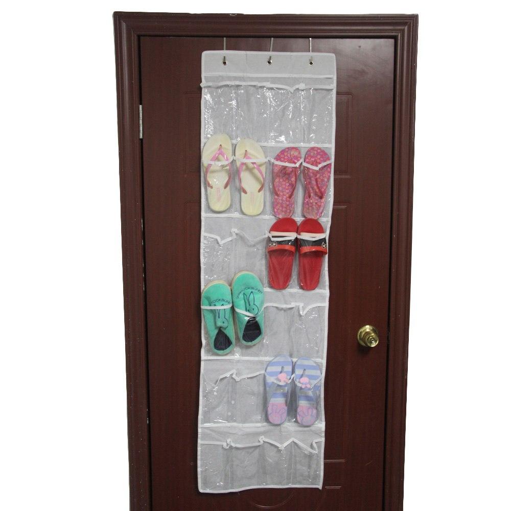 24 Pocket Over The Door Hanging Holder Shoe Organizer Rack