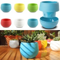Small Mini Colorful Plastic Flower Planter Pots Home ...