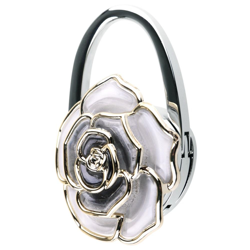 Rose Foldable Handbag Purse Tote Bag Table Hanger Hook