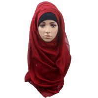 Fashion Women Large Scarf Muslim Shawl Scarf Head Cover ...
