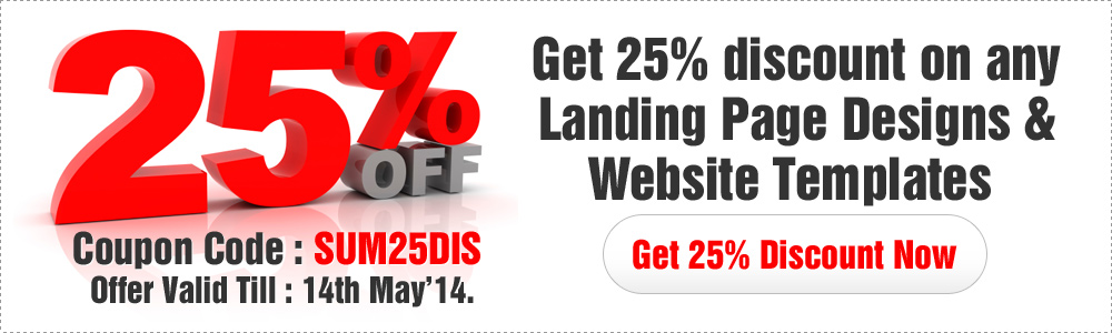 Landing page design templates summer 25 flat discount offer - discount coupon template