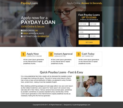 Mini landing page designs for your business conversion