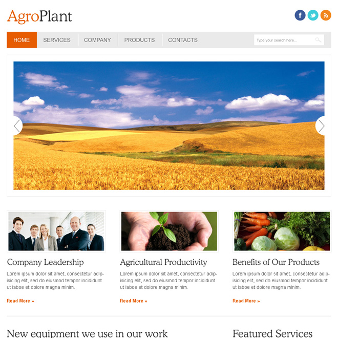 Agriculture html website templates to create website for your - how to create a website template