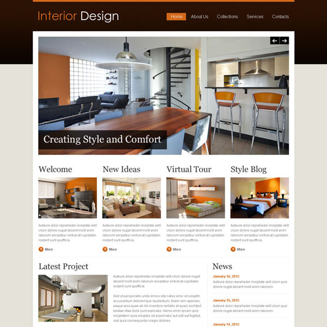 Creative  best website template psd for sale to create your website