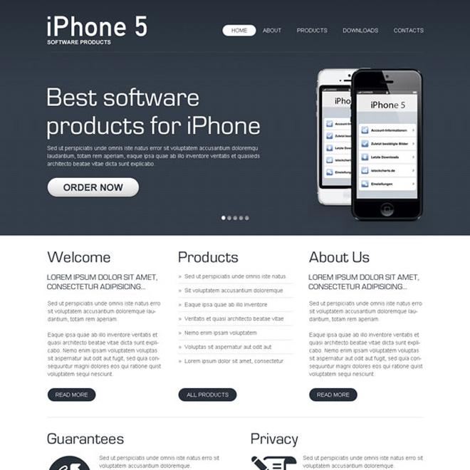 best software product effective website template design psd