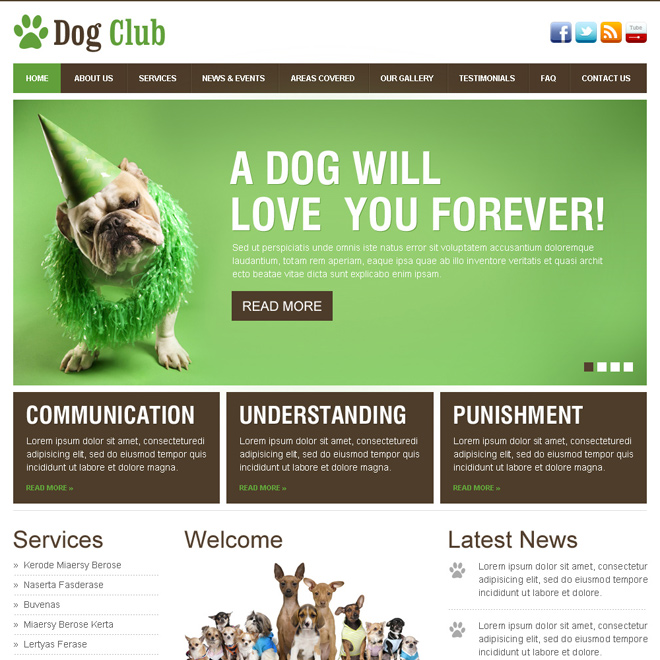 Animals and pets html website templates to create website for pets