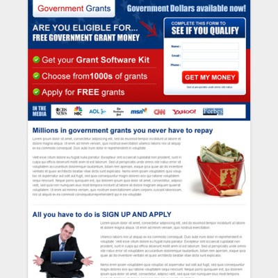 The best government grants landing page design templates page 2