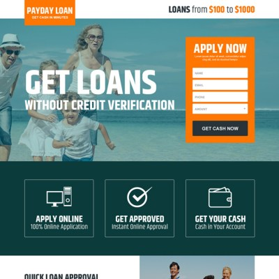 Payday loan lead capture landing page design templates page 2