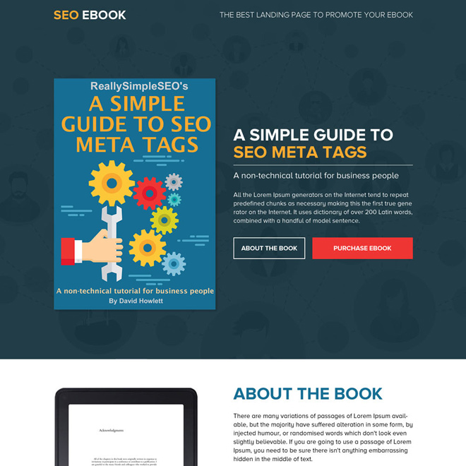 Responsive e-book landing page design templates to boost your e-book