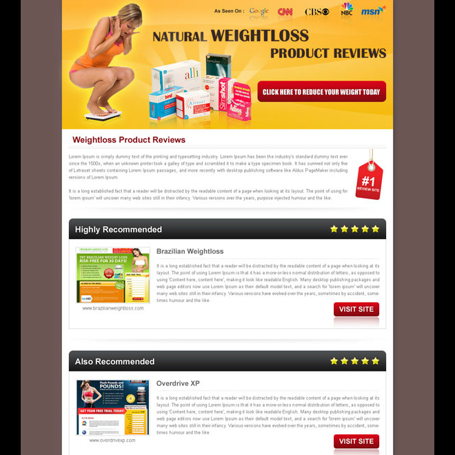 Best converting and effective landing page designs for sale page 3 - product review template