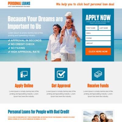 Cash loan landing pages | e-loan landing pages | personal loan landing page | personal loan ...