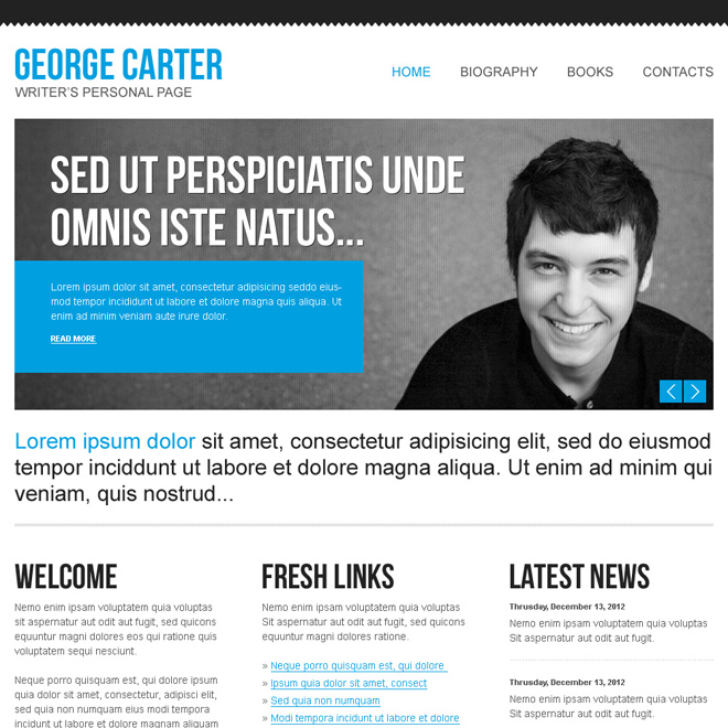 Create your personal website with our creative personal page website