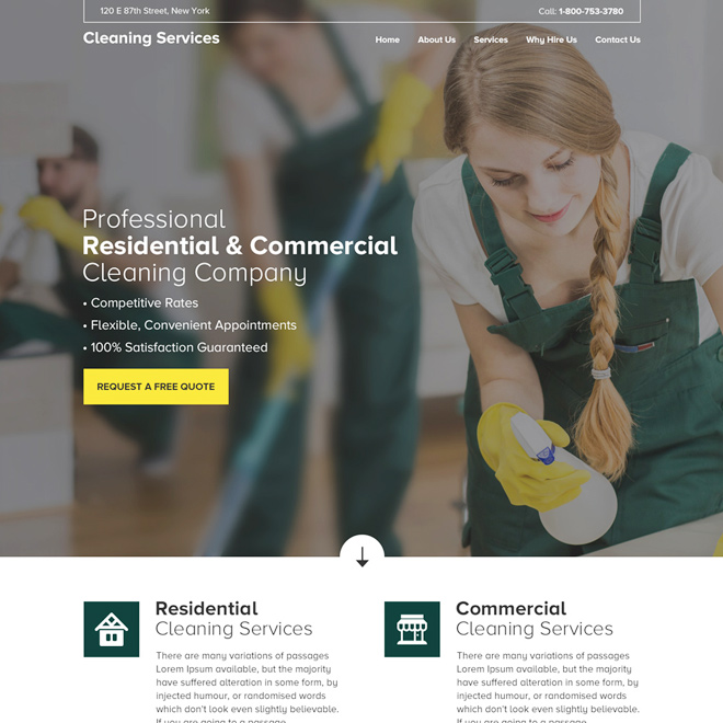 cleaning services template
