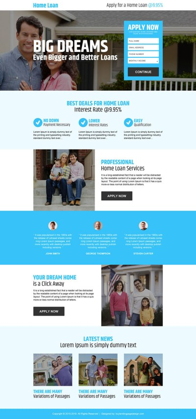 apply-for-a-home-loan-lead-gen-reslp-001 | Home Loan Landing Page Design preview.